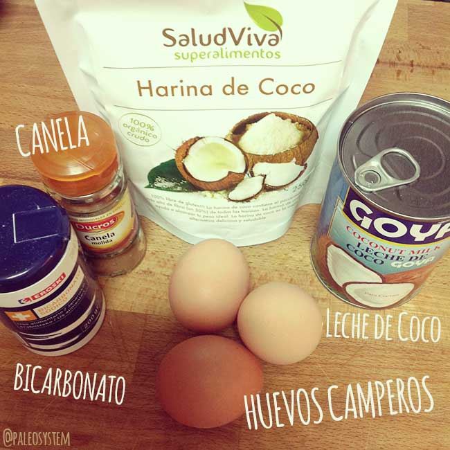 ingredientes para gofres paleo fitness