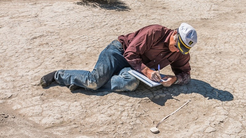 On the News   USA   Mammoth prints found by UO group suggest a