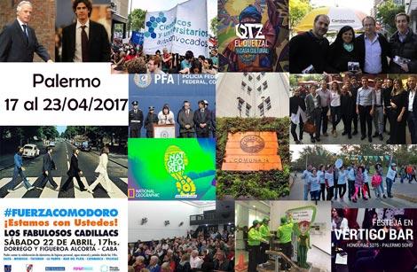 Sucedió en Palermo durante la semana del 17 al 23 de abril de 2017
