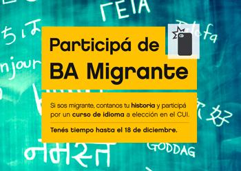 Está abierta la convocatoria para participar en el BA Migrante