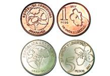 nuevas monedas de 1 y 5 pesos