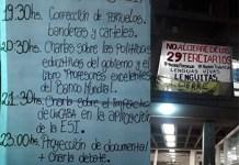 Vigilia de los estudiantes terciarios del Lenguitas