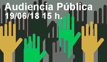 Audiencia Pública del 19 de junio a las 15