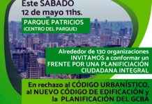 130 asambleas y organizaciones INVITAMOS a conformar un FRENTE POR UNA PLANIFICACIÓN CIUDADANA INTEGRAL