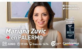 """Mariana Zuvic presentará """"El origen"""" en Palermo"""