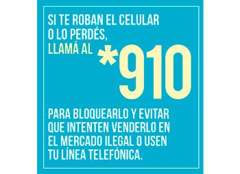 Denunciá el robo de tu celular llamando al *109