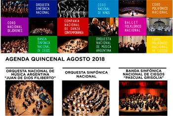 Organismos Estables - Agenda 1° quincena agosto 2018
