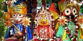 Ratha Yatra 2018 Festival de la India Espiritual - Carroza de las 3 Deidades
