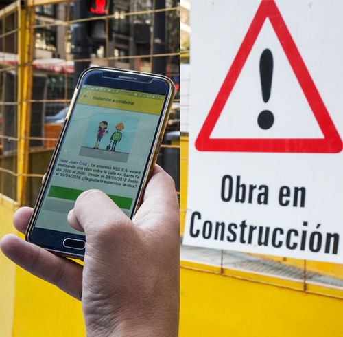 Cómo controlar las obras en veredas desde su teléfono celular