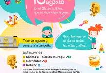 Colecta de juguetes por el Día de la Niñez