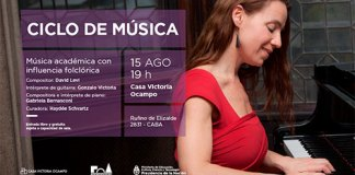 Ciclo de Música gratuito en Casa Victoria Ocampo