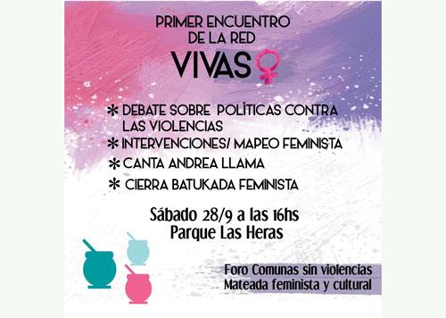 Mateada Cultural y Feminista en el Parque Las Heras