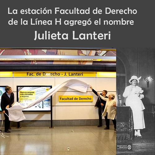 Estación Facultad de Derecho - Julieta Lanteri