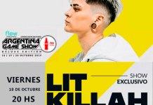 Lit Killa en concierto exclusivo en ArGameShowForMe