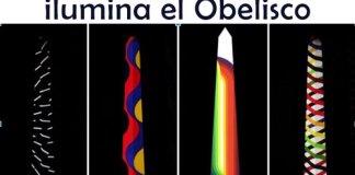 Julio Le Parc ilumina el Obelisco en La Noche de los Museos