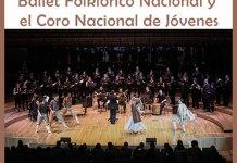 El Ballet Folklórico Nacional y el Coro Nacional de Jóvenes en el Anfiteatro del Parque Centenario