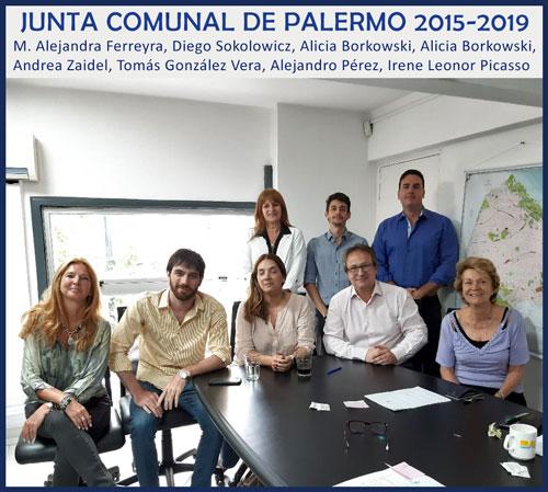 Junta Comunal 2015/9 saliente en la Comuna 14