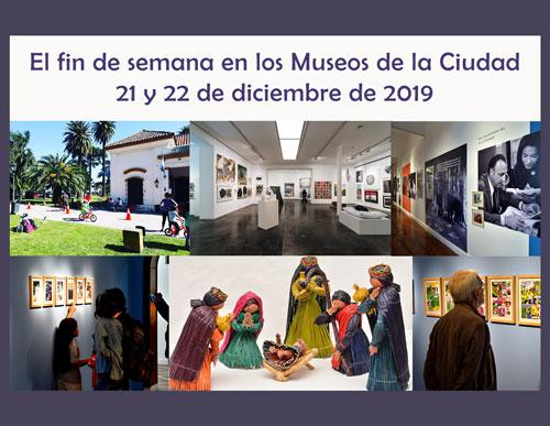 Sábado 21 y Domingo 22 de diciembre de 2019 en los Museos