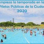Las piletas públicas de la Ciudad abren el 2 de enero 2020
