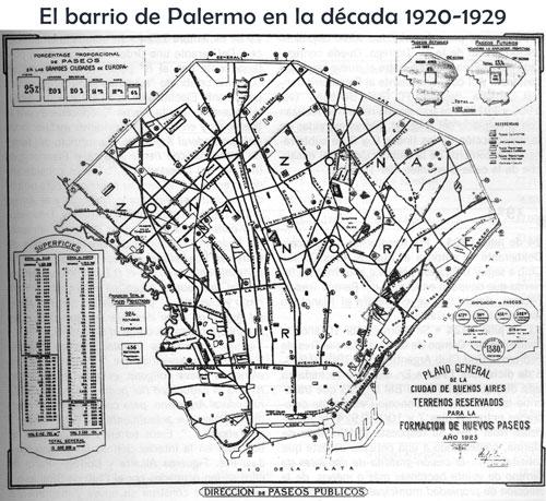 Dirección de Paseos Públicos - Plano de la Ciudad