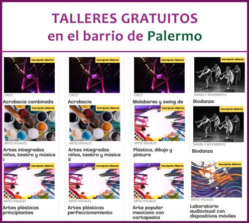 Talleres Gratuitos en Palermo