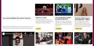 """""""Cultura en Casa"""" una web con el contenido cultural de la Ciudad"""
