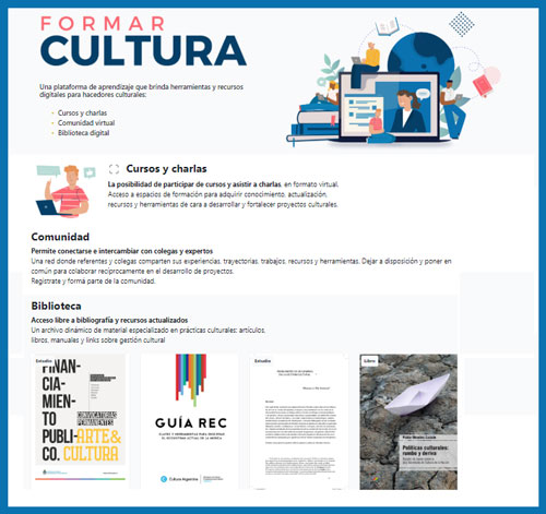 Formar Cultura. Una plataforma virtual de capacitación y formación