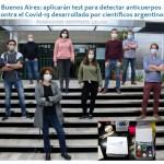 Científicos argentinos elaboraron un test para detectar anticuerpos contra el Covid-19