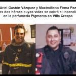 comandante Director Ariel Gastón Vázquez de la Compañía de Planeamiento Desarrollo, y el subcomisario Maximiliano Firma Paz de la Estación VI Villa Crespo