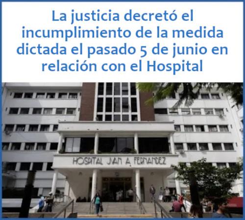 El gobierno de la Ciudad deberá cumplir en el Hospital Fernández con las medidas de seguridad ordenadas por la justicia