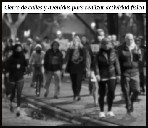 Las calles y avenidas cercanas a los parques se peatonalizarán para realizar actividad física