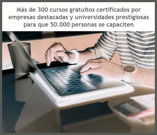 "300 cursos gratuitos a través de ""Coursera"""