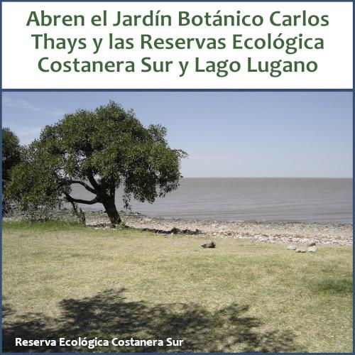 Nuevas aperturas con protocolo COVID-19: Jardín Botánico Carlos Thays y Reservas Ecológica Costanera Sur y Lago Lugano