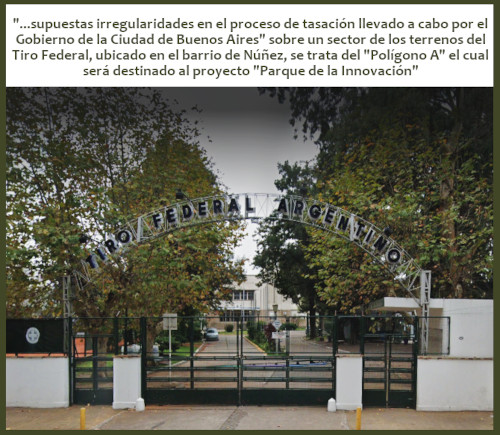 """Solicitud de informes  por presuntas """"irregularidades"""" en venta del Tiro Federal"""