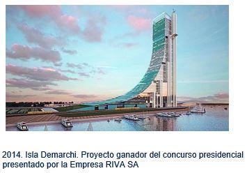 Isla Demarchi.Proyecto ganador del concurso presidencial presentado por la Empresa RIVA SA
