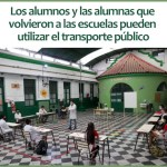 Alumnos y alumnas que volvieron a las escuelas pueden utilizar el transporte público