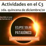 Actividades en el C3 para la segunda quincena de diciembre/20