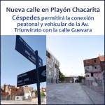 Apertura de la calle Céspedes en el Playón Chacarita