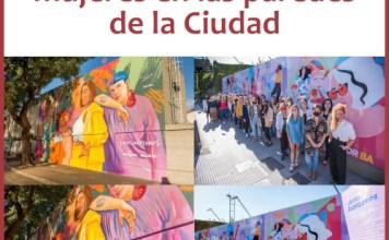 Murales para y por mujeres en las paredes de la Ciudad