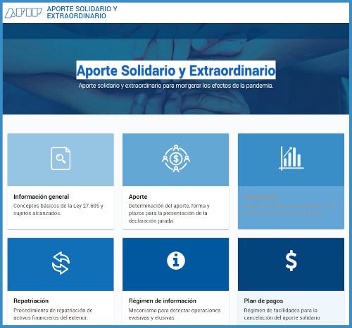 Resultados preliminares de lo recaudado por el Aporte solidario y extraordinario