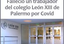 Murió un trabajador del colegio León XIII de Palermo por Covid