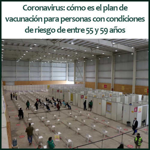 Coronavirus: la Ciudad va a vacunar a pacientes de riesgo de entre 55 y 59 años