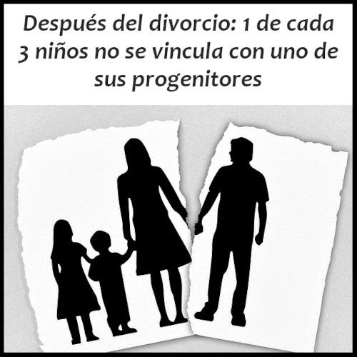 Luego de un divorcio: 1 de cada 3 niños ya no se vincula con uno de sus progenitores