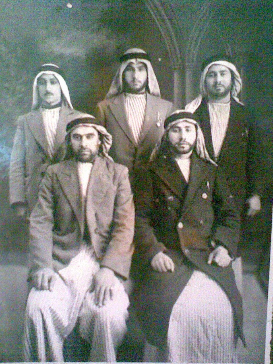 Saffuriyya-صفورية: المجاهدون محمد غزلان و صالح النصر و عمر أبو زينه و أحمد التوبة و نايف المصلح 1939