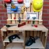Kinder Werkbank aus Paletten Holz Palettery1