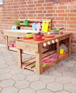 Matschküche Kinderküche aus Paletten Holz MMP 1 (11)