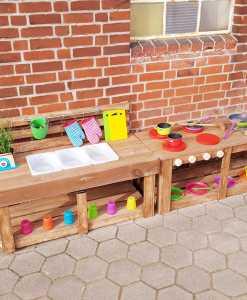 Matschküche Kinderküche aus Paletten Holz MMP 1 (6)