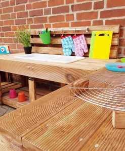 Matschküche Kinderküche aus Paletten Holz XLMP 1 (5)