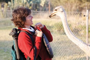 21-Sylvie meets ostrich