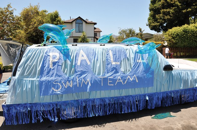 One year Palisades High School students decorated a Chevy Suburban in an effort to raise money for a swimming pool on campus. Photo: Shelby Pascoe